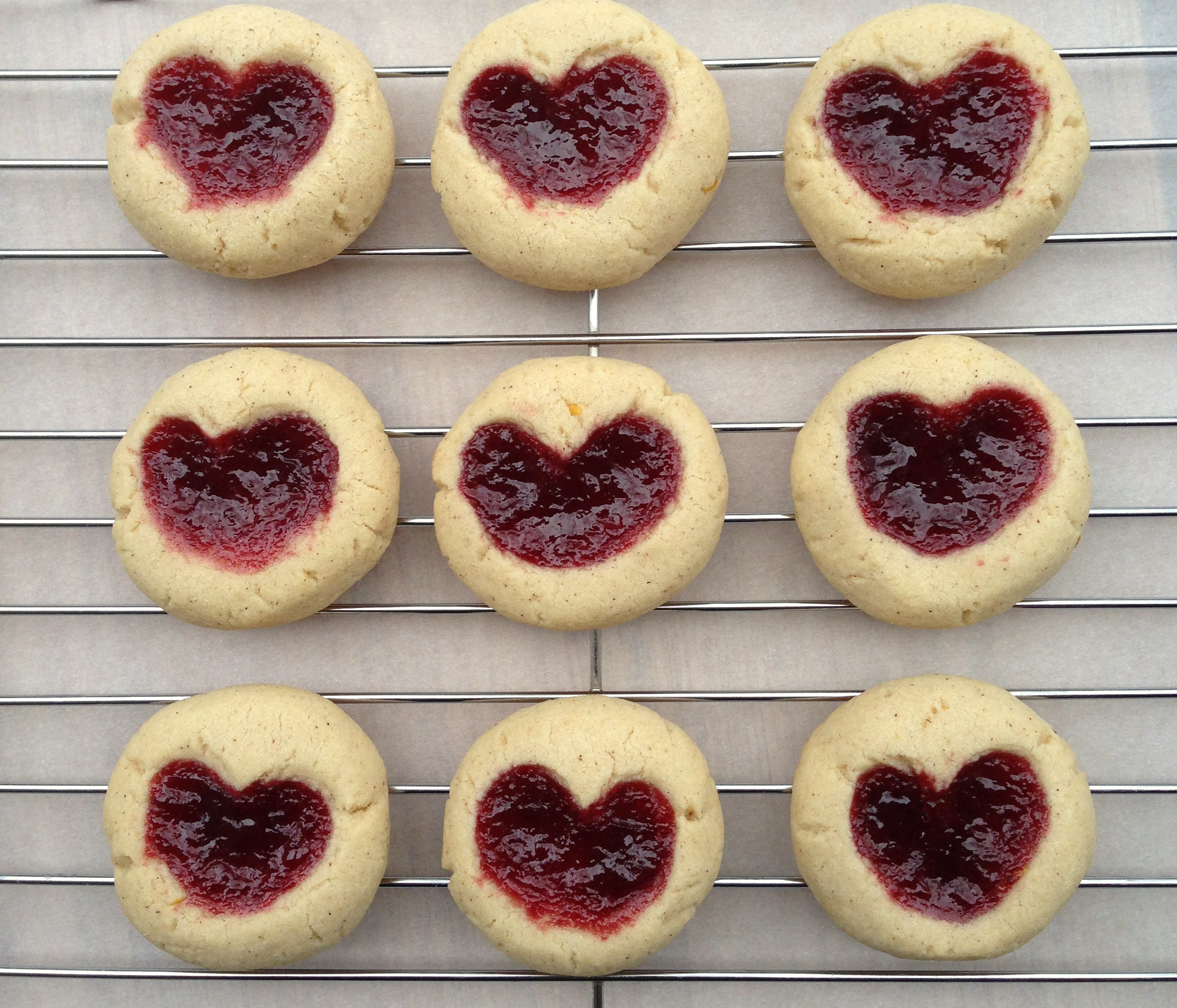 Linzer Heart Thumbprint Cookies « Baking with Altitude