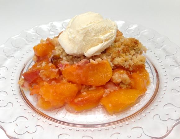 Peach Nectarine Crumble